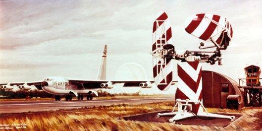 B-52 Landing At Eglin
