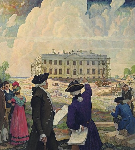 Building The First White House, Washington 1798