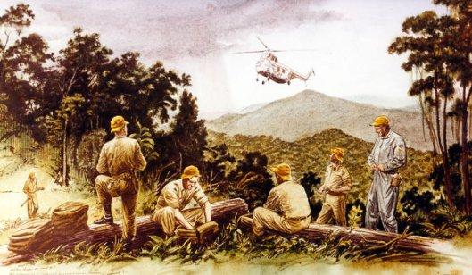 Chopper Flight Into The Jungle
