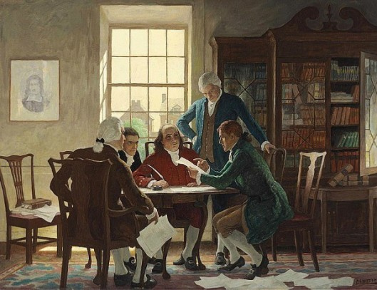 Drafting The Declaration Of Independence, 1776