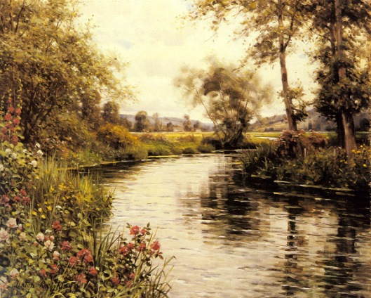 Flowers In Bloom By A River