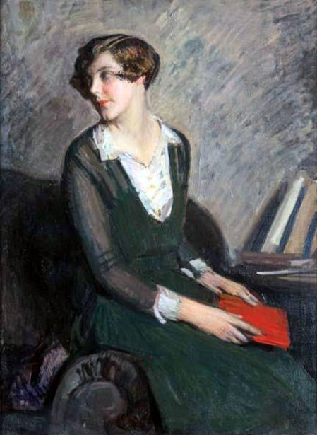 Girl In Green With Book