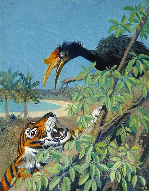 Landscape With Bird And Tiger