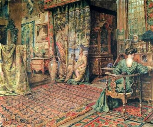 Lady In A French Interior