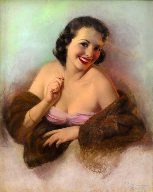 Lady With Fur Shawl