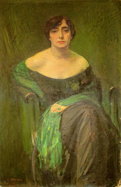 Lady With Green Shawl