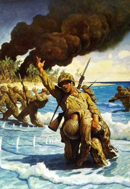 Marines Landing On Beach, 1944