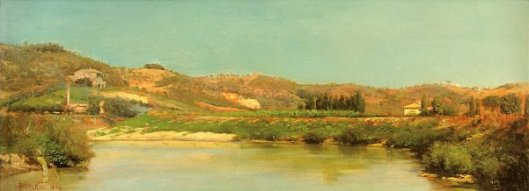 Landscape On Tiber River