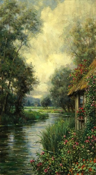 Rose Garden By A Stream, Launay