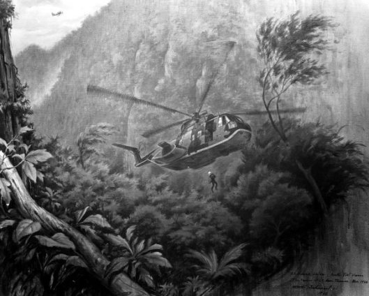 Twenty-Five Hours Later - US Helicopter Flying Over Vietnamese Jungle
