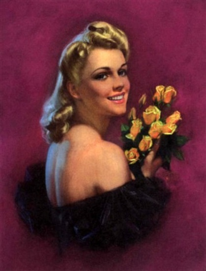 Woman Holding A Bouquet Of Yellow Roses