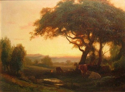 Cattle Resting Beneath Trees
