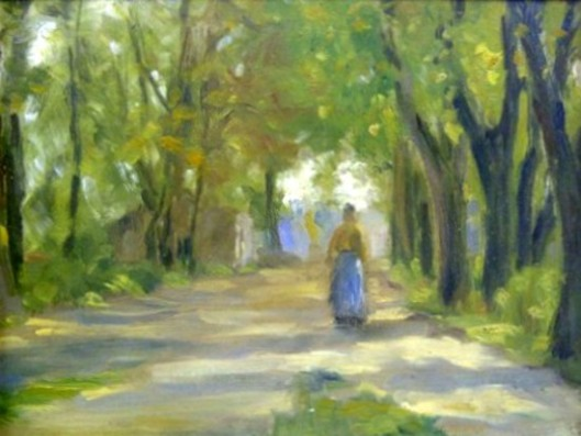 Figure On Forest Pathway