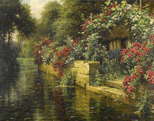 Rambling Roses On A River Landing