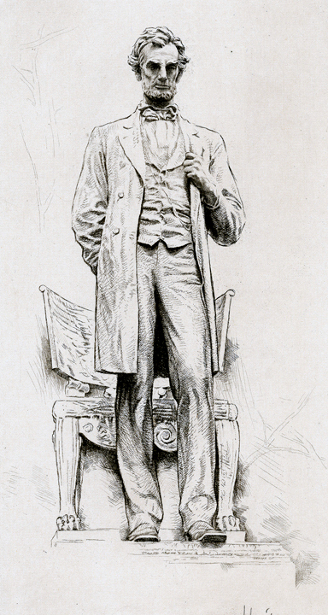 Saint-Gaudens' Statue Of Lincoln in Lincoln Park, Chicago