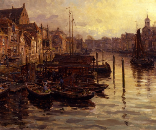 The Old Harbor, Dordrecht, Holland