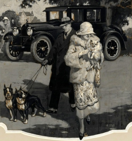 Wealthy Couple With Pet Dogs