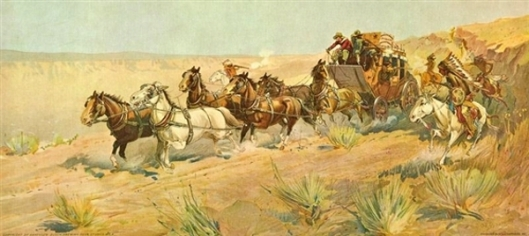 A Fight For The Overland Mail
