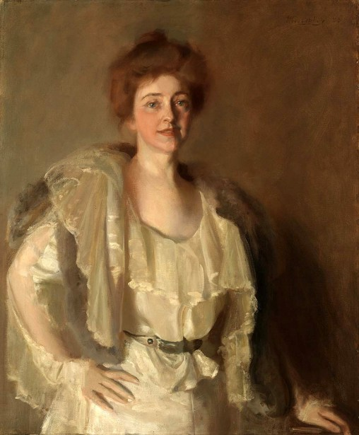 Alice Pike Barney In Whites And Browns