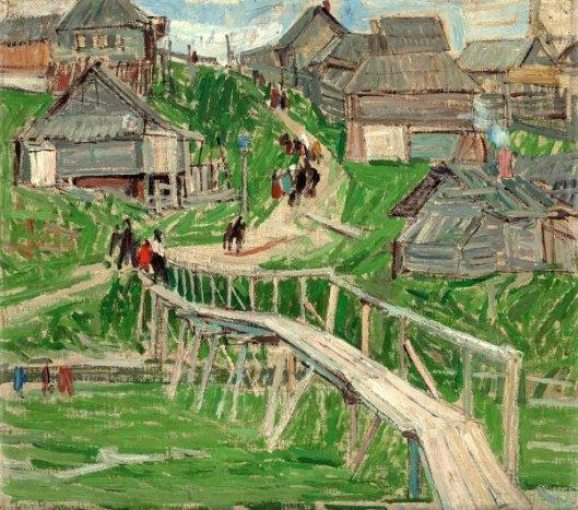 Bridge In Russian Village