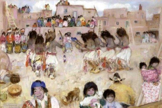 Buffalo Dance In Zuni Pueblo