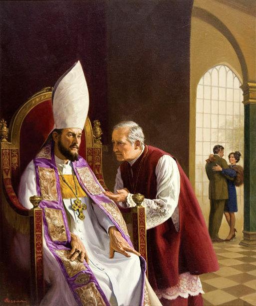 Cardinal And Priest