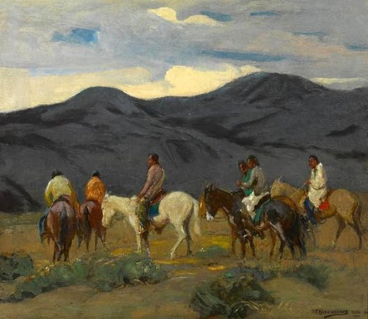 Group Of Taos Indians - Riders
