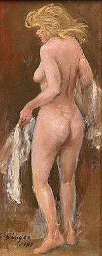 Nude With White Cloth