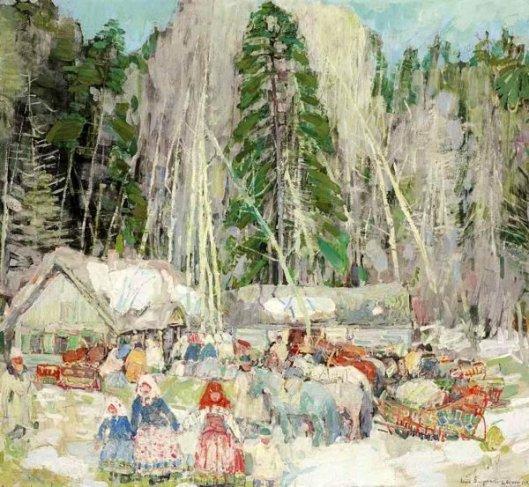 Peasant Gathering, Siberia