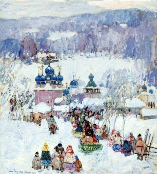 Russian Snow Scene