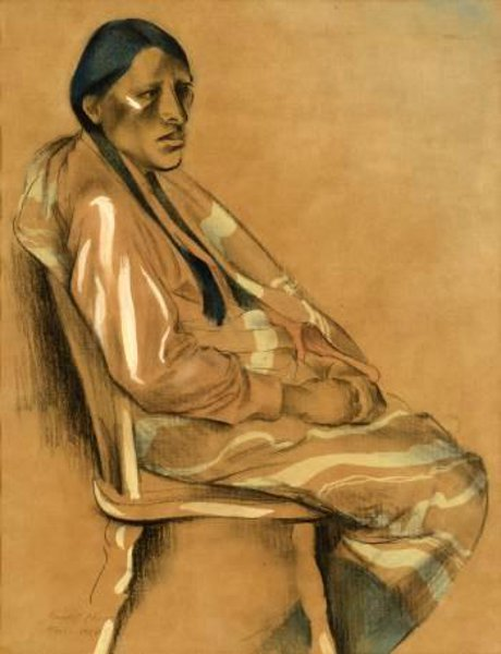 Seated Indian Man