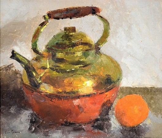 Still Life With Tea Kettle And Orange