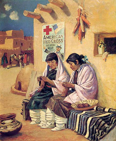Women At The Pueblo