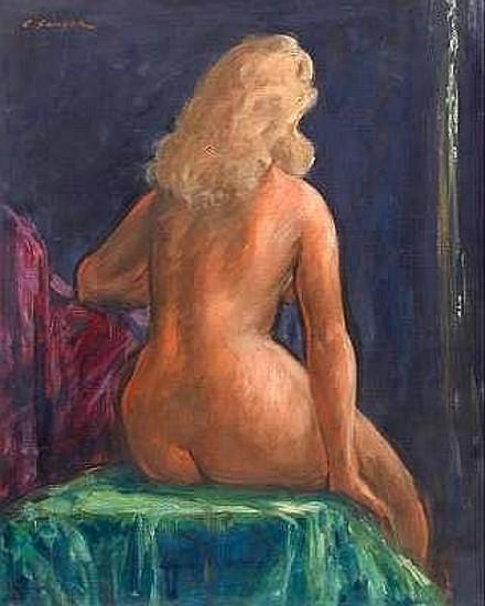 Blonde Nude Back