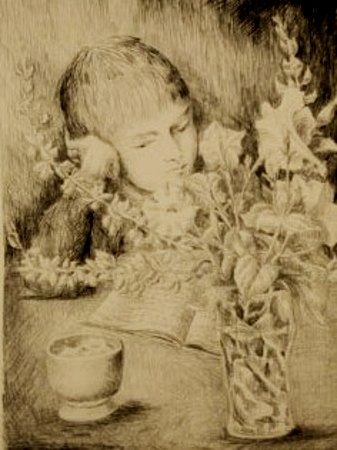 Boy And Bouquet