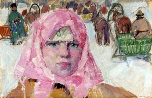 Girl In Pink Shawl
