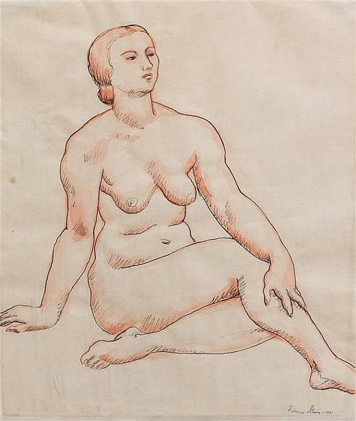 Nude Woman With Crossed Legs