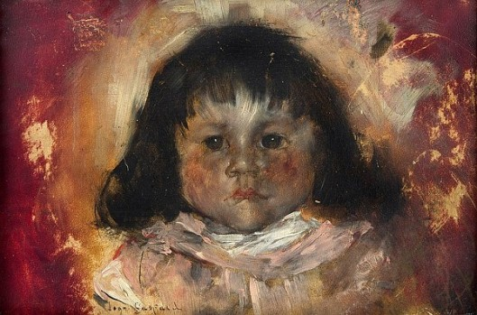 Portrait Of A Girl -  A Little Dark Haired Girl