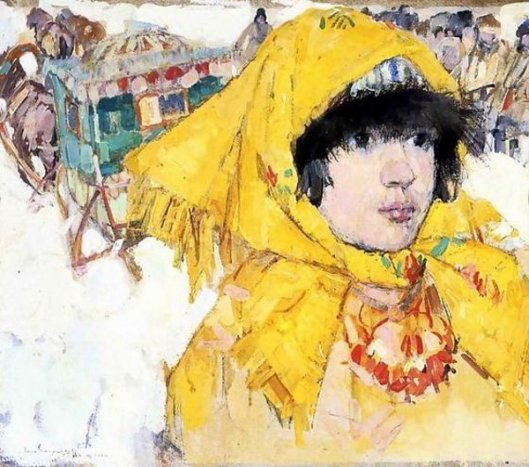 Siberian Girl In Yellow