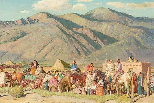 The Pueblos Await The Dancers