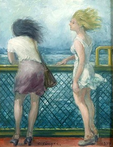 Two Girls On Deck