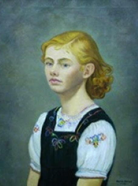 Young Girl In A Green Jumper