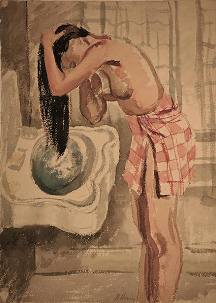 Rowena Washing Her Hair