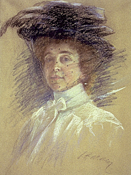 Self Portrait With Hat And Veil