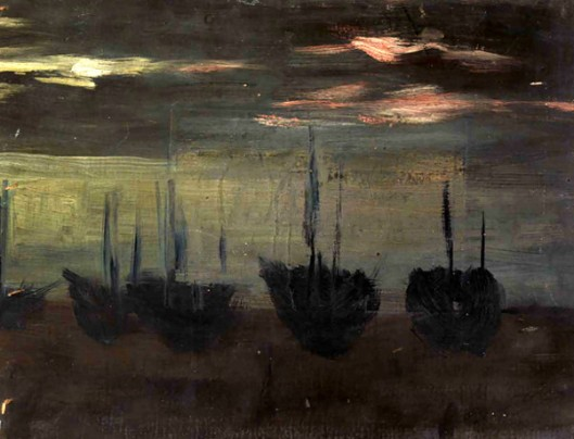 Ships In Moonlight