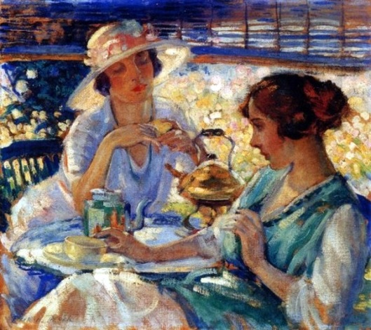 Two Women Having Tea
