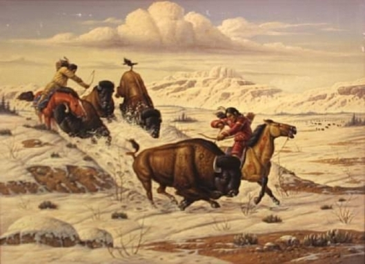 Winter Hunt, Blackfoot