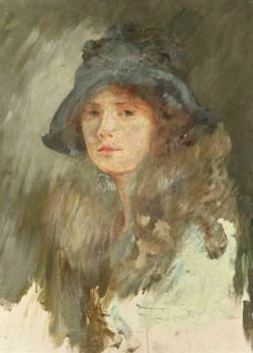 Head Of A Girl In Blue Hat