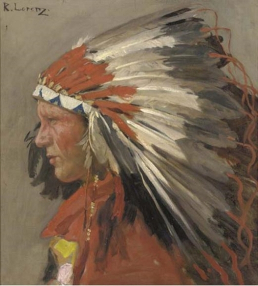 Indian Chief With Headdress