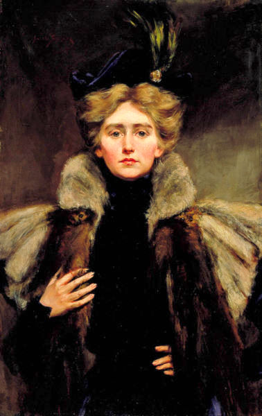 Natalie Barney In Fur Cape